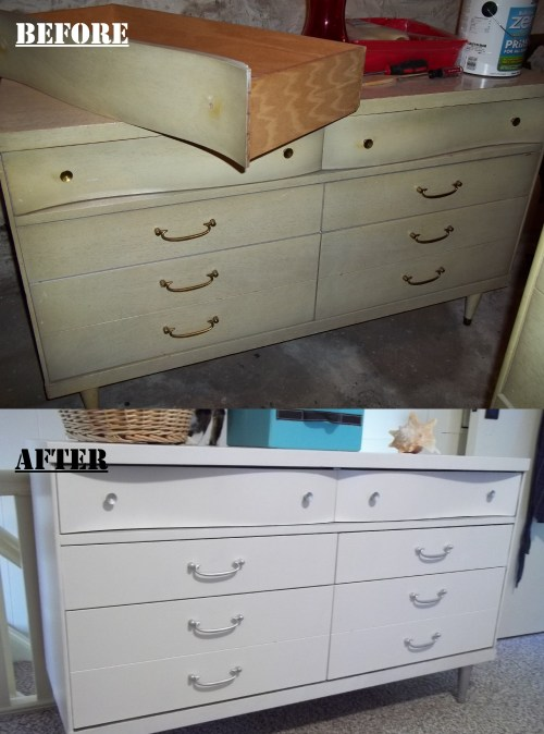 Before and After Dresser Painting Project   ||  thelittledabbler.com