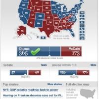 Election results widget
