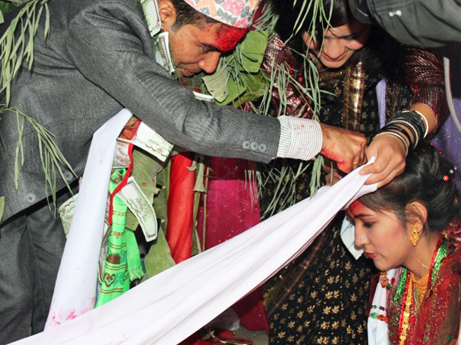 Traditional marriage in Nepal