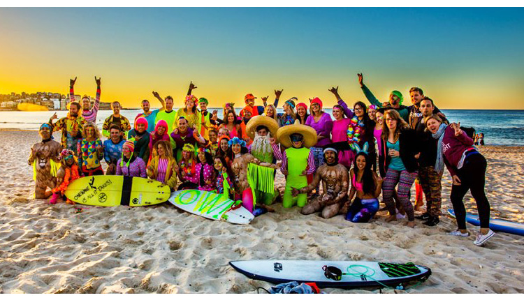 Surfing in Fluro for Mental Health