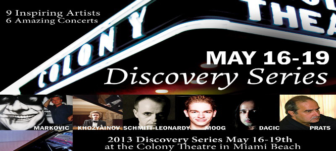 Miami International Piano Festival Discovery Series May 16th - 19th Header
