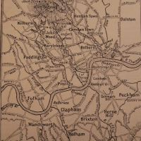 Old map of London's Lost Rivers