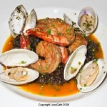 thumbs sel de la terree shrimp and clams Boston Eats