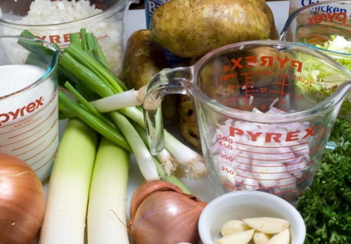 Basic Little Potato & Five Onion Soup