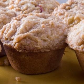 Rhubarb Cardamom Lime Muffins