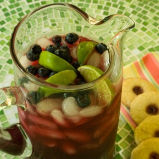 Fresh Pitcher of Blueberry Lavender Limeade with Triple Lemon Cookies