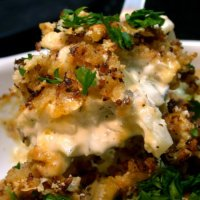Cauliflower Gratin with Tillamook Aged Cheddar, Caramelized Onions & Applewood-Smoked Bacon