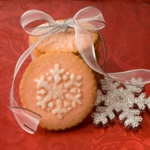 Cookies with ribbon 250 Christmas Cookies: Starry Night