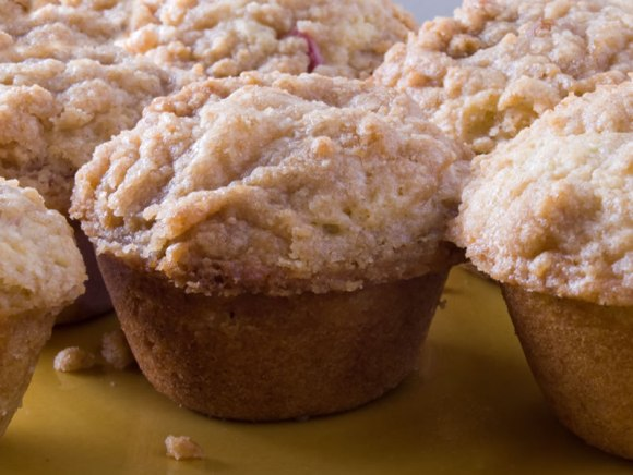Muffin Group Rhubarb Cardamom Lime Muffins