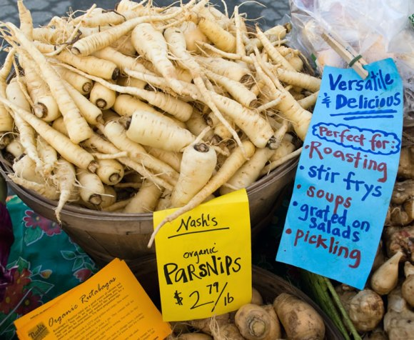Parsnips at University Farmers Market Northwest Fresh: April 2009