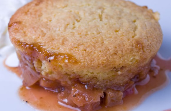Rhubarb upside down cake serving 3 Rhubarb Cornmeal Upside Down Cake