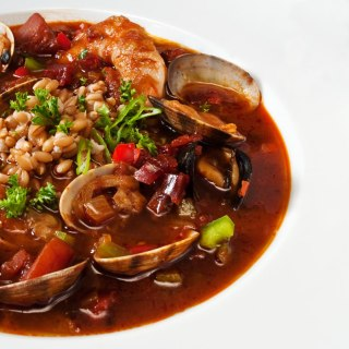 Smoky Spanish Zarzuela with Chorizo & Emmer Farro