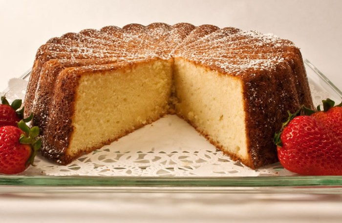 Heavenly Parmesan Pound Cake, Sliced
