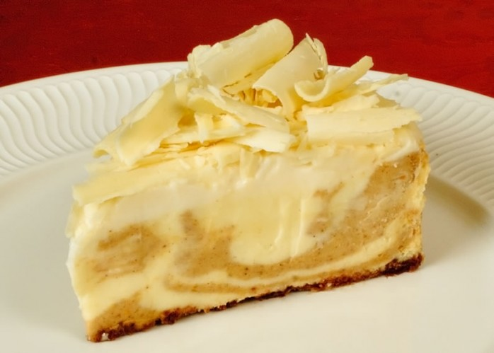 Pumpkin Spice & White Chocolate Cheesecake