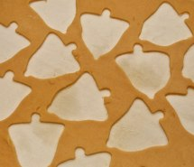 Silver Bell Cutouts Ready to Bake