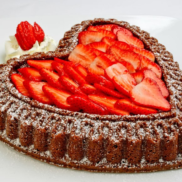 Strawberry layer square Chocolate Almond Pound Cake