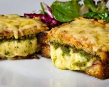 Croque Monsieur with Spicy Sorrel Chive Pesto Hot from the Oven