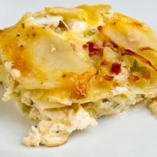 Potato Gratin with Ricotta, Pancetta and Melted Leeks (2)