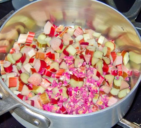 Rhubard and spices Rhubarb Rose Petal Caramel Syrup + 4 Variations