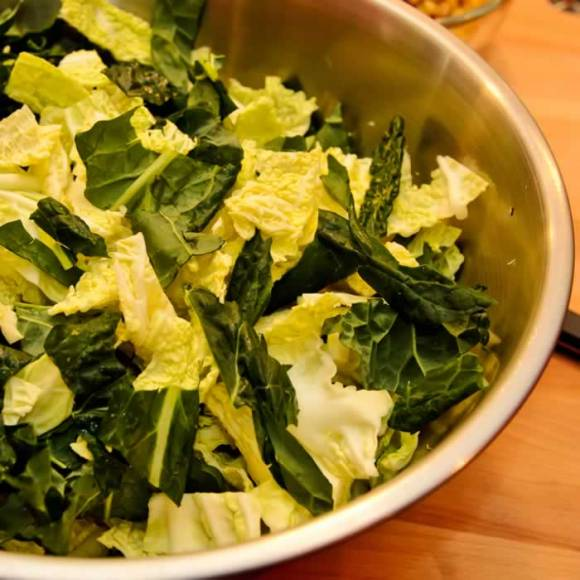 Chopped Kale and Cabbage Kamut, Kale & Cabbage Soup with Winter Pistou