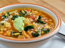 Kamut, Kale & Cabbage Soup with Winter Pistou