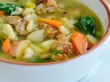 Cannellini Bean Soup with Italian Sausage & Anaheim Chiles