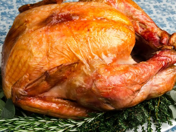 New roasted turney fresh from the oven The Perfect Roast Turkey