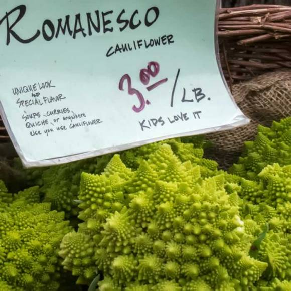 Romanesco at Portland Farmers Market Romanesco, Applewood Smoked Bacon, Cranberry & Pecan Salad