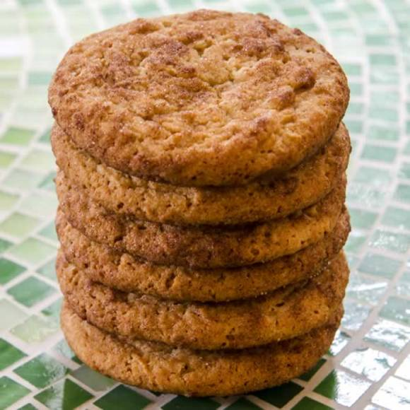 Stack of Super Chewy Snickerdoodles