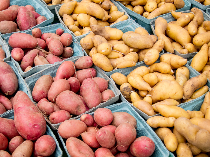 Portland Farmers Market Opening Day 2014: Fingerling Potatoes