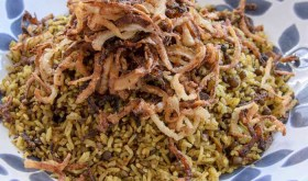Almost Yotam Ottolenghi's Mejadra (Spiced Rice & Lentils)