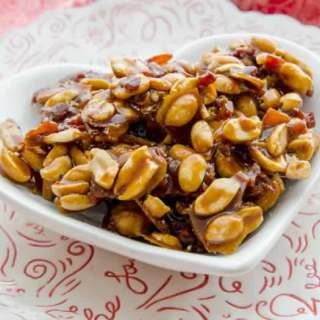 Spicy Caramelized Bacon & Peanuts