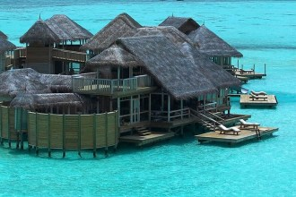 Luxury over water villas in Maldives