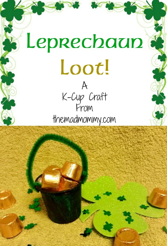 How cute and simple is this St. Patrick's Day craft made out of used k-cups?