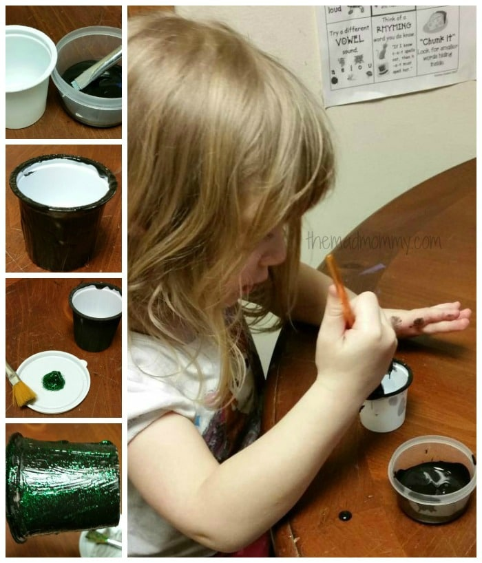 painting the st. patrick's day craft
