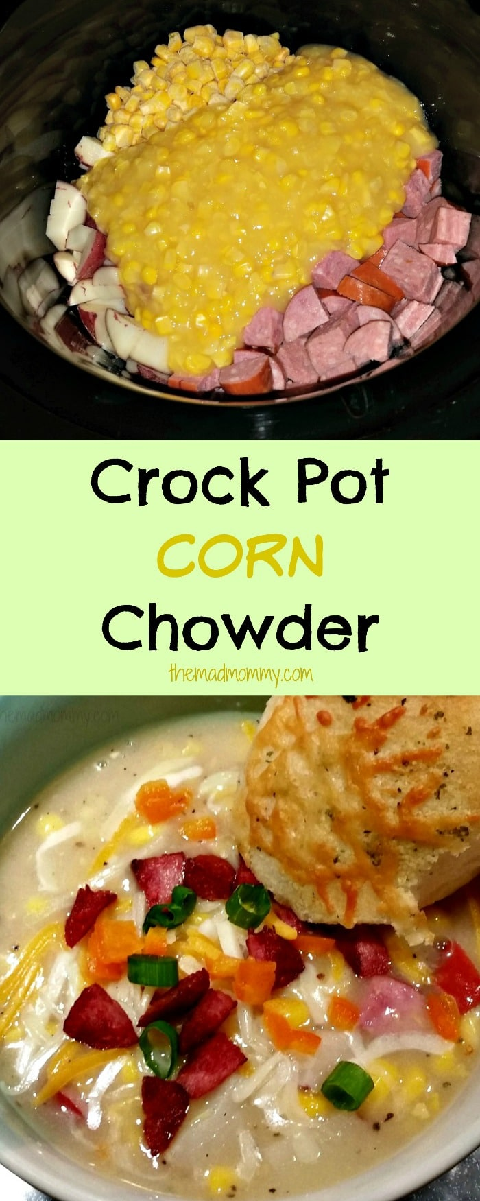 crock pot corn chowder recipe themadmommy.com