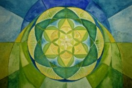 This is the central mandala in the underpainting of a piece I'm working on.