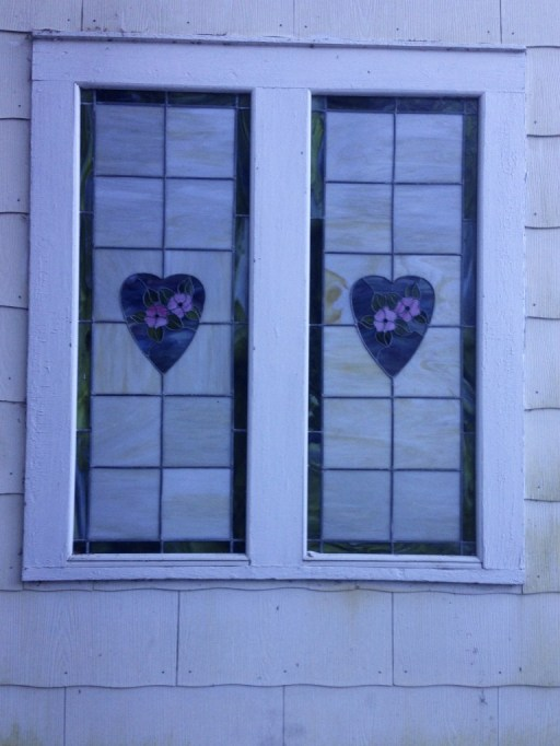 Two Hearts Stained Glass