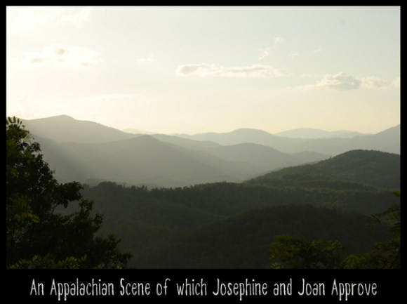 An Appalachian Scene of which Josephine and Joan Approve