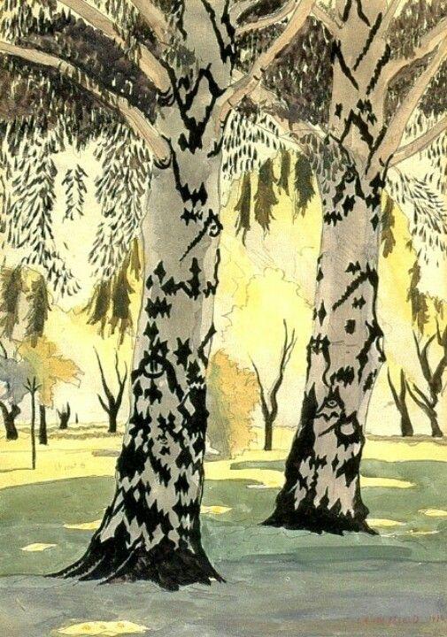 Poplars in May, Charles Burchfield