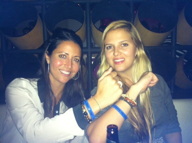 Skye and Serena Dyer (Wayne Dyer's daughters) wearing their Manifestation Man-festing bracelets.
