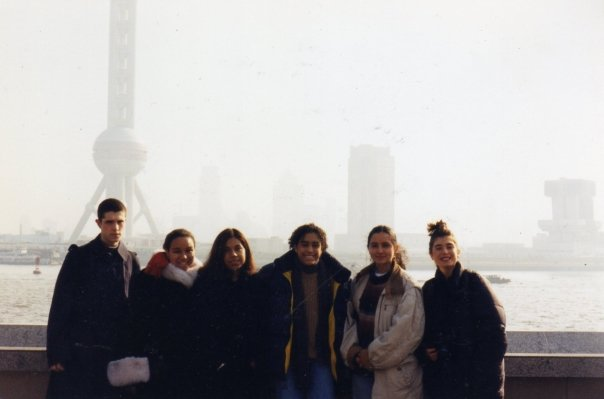 In Shanghai. Me on the end.