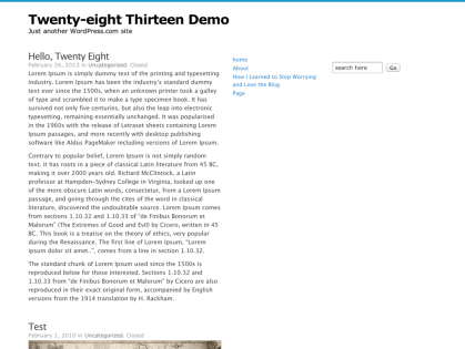 Twenty-eight Thirteen WordPress Theme