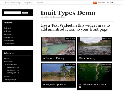 Inuit Types WordPress Theme