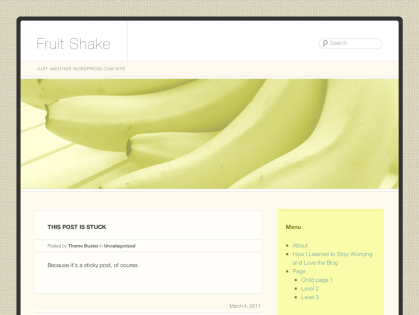 Fruit Shake WordPress Theme
