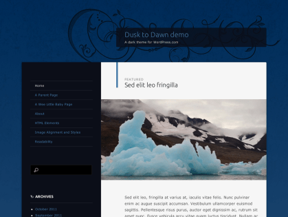 Dusk To Dawn WordPress Theme