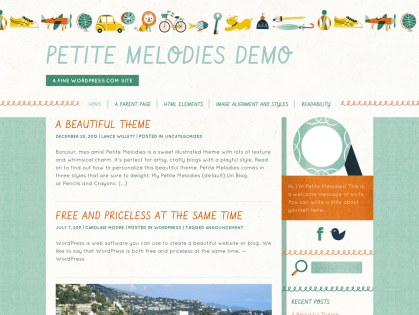Petite Melodies WordPress Theme