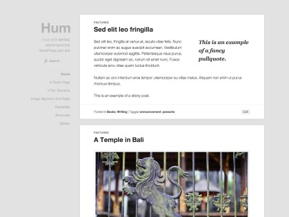 Hum WordPress Theme