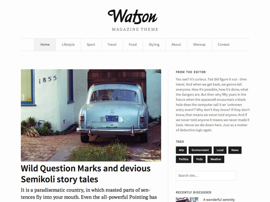 Watson WordPress Theme