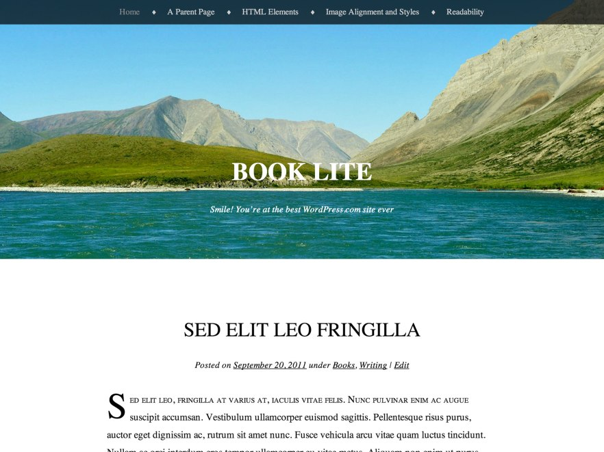 Book Lite WordPress Theme